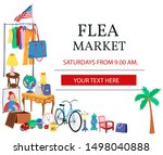 Doodle Flea Market Poster With...