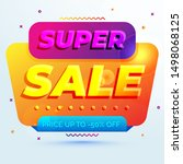 colorful abstract style super... | Shutterstock .eps vector #1498068125