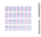 domino full set on white... | Shutterstock .eps vector #1498068365
