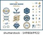 vintage retro vector for banner ... | Shutterstock .eps vector #1498069922