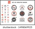 vintage retro vector for banner ... | Shutterstock .eps vector #1498069925