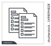 checklist icon vector...