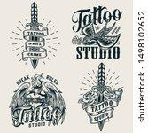 vintage tattoo studio... | Shutterstock .eps vector #1498102652