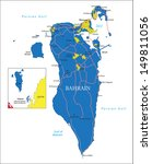 bahrain map | Shutterstock .eps vector #149811056