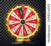 casino spinning fortune wheel...   Shutterstock .eps vector #1498114025