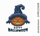 halloween party poster... | Shutterstock .eps vector #1498122608