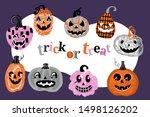 halloween holiday banner design ... | Shutterstock .eps vector #1498126202