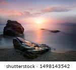 Amazing Landscape Of Sunrise A...