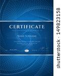certificate  diploma of... | Shutterstock .eps vector #149823158