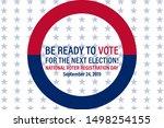 national voter registration day.... | Shutterstock .eps vector #1498254155