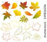 vector autumn falling leaves  ... | Shutterstock .eps vector #149826206
