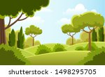beautiful  landscape nature... | Shutterstock .eps vector #1498295705
