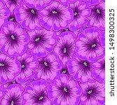 petunia flower seamless pattern ... | Shutterstock .eps vector #1498300325
