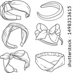 vector of set women's headband  ... | Shutterstock .eps vector #1498313615