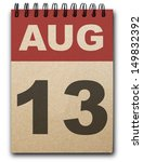 13 August Calendar On Recycle...