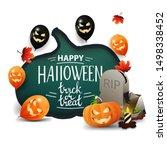 happy halloween  trick or treat ... | Shutterstock .eps vector #1498338452