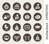holidays icons | Shutterstock .eps vector #149837042