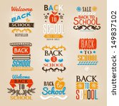 back to school calligraphic... | Shutterstock .eps vector #149837102