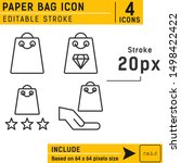 paper bag icon vector on...
