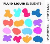 gradient iridescent shapes. set ... | Shutterstock .eps vector #1498451228