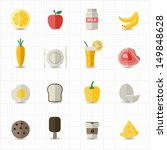 food and drink icons   Shutterstock .eps vector #149848628