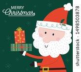cute santa claus brings a... | Shutterstock .eps vector #1498503878