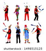 clown in circus vector isolated ... | Shutterstock .eps vector #1498515125