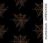 web seamless vector pattern on... | Shutterstock .eps vector #1498524332