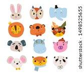 set of cute animal. eps 10.   Shutterstock .eps vector #1498525655