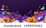 halloween background for party... | Shutterstock .eps vector #1498553462
