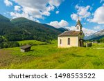 Small saint Anthony Chapel near Alpine town Trins - not far from Brenner pass - in Austria.