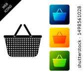 shopping basket icon isolated.... | Shutterstock .eps vector #1498561028