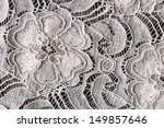 lace with flower pattern on... | Shutterstock . vector #149857646
