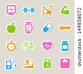 fitness and health icons... | Shutterstock .eps vector #149858072