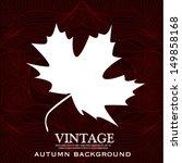 Vintage Autumn Leaves Design...
