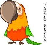 funny fat orange parrot with a... | Shutterstock .eps vector #1498595282
