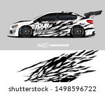 car wrap graphic. abstract... | Shutterstock .eps vector #1498596722