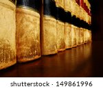 row of old leather books on a... | Shutterstock . vector #149861996
