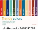 spring summer 2020 color trends.... | Shutterstock .eps vector #1498635278