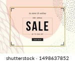 sale banner template design.... | Shutterstock .eps vector #1498637852