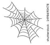 spider web for halloween design ...   Shutterstock . vector #1498690478