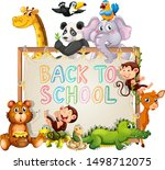 back to school template with...   Shutterstock .eps vector #1498712075