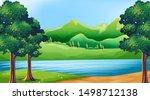 empty background nature scenery ...   Shutterstock .eps vector #1498712138