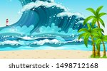 empty nature beach ocean...   Shutterstock .eps vector #1498712168