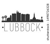 lubbock texas. city skyline.... | Shutterstock .eps vector #1498726328