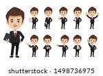 set of businessman creation... | Shutterstock .eps vector #1498736975