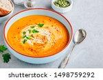 Carrot And Pumpkin Cream Soup...