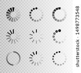 super set different load icon.... | Shutterstock .eps vector #1498773548