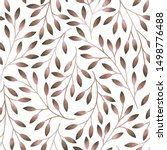 floral seamless pattern with... | Shutterstock . vector #1498776488
