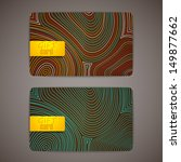 set of gift cards | Shutterstock .eps vector #149877662